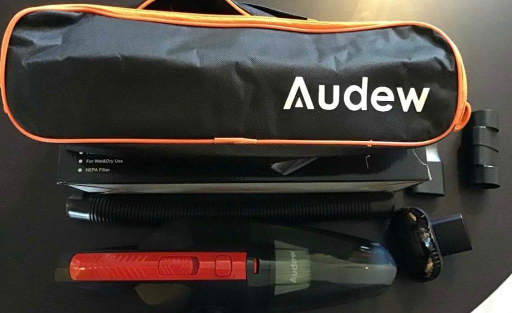 avis test essai aspirateur main sans fil portable voiture audew